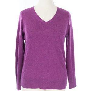 Purple Talbots Cashmere sweater L